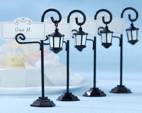Stylish Streetlight Wedding Place Card Holder