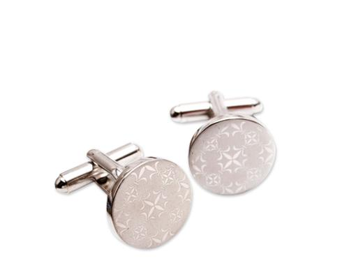 Wedding Groom Round Shirt Cufflinks for Men - Vintage Flower