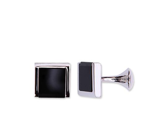 Wedding Groom Rectangle Cufflinks for Men - Classical Black