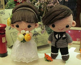 Sweet Bride and Groom Handmade Wedding Dolls