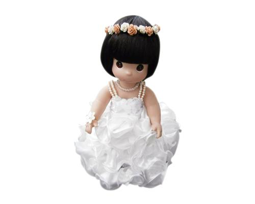 Stylish Girl Precious Moments Bride and Groom Handmade Wedding Dolls