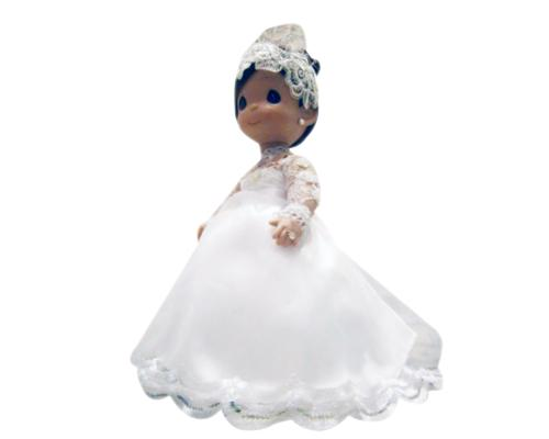 Fancy Precious Moments Bride and Groom Handmade Wedding Dolls