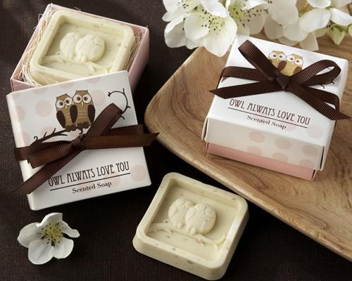 Lovely Wedding Favor Gift Soap - Owl Always Love You
