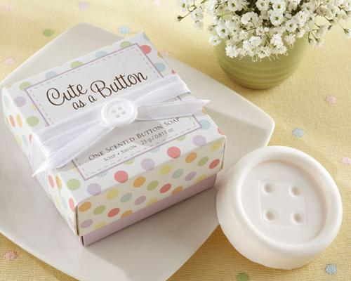 Lovely Wedding Favor Gift Soap - Button