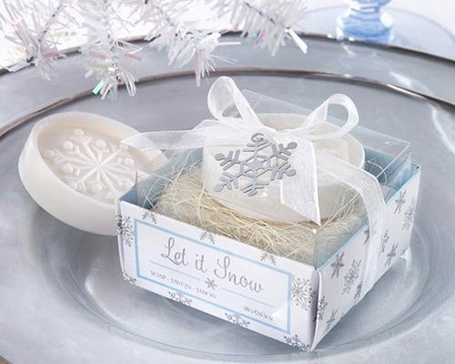 Lovely Wedding Favor Gift Soap - Snowflake