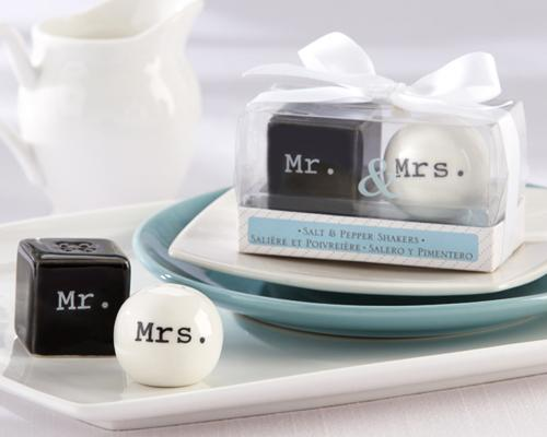 Mr. And Mrs. Wedding Salt And Pepper Shakers