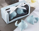 Kissing Fish Wedding Salt And Pepper Shakers