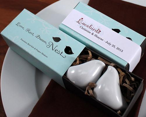Lovebirds Wedding Salt And Pepper Shakers