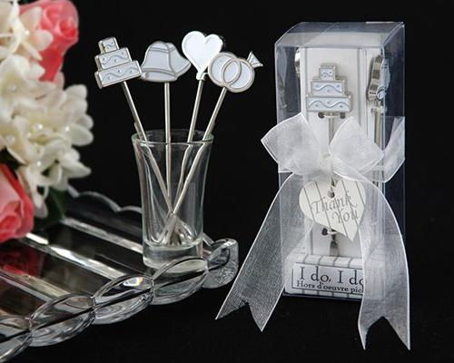 4 Pcs Sweet Heart Stainless Steel Wedding Favors Fruit Fork Set