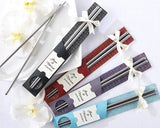 4 Pcs Love Stainless Steel Wedding Favors Chopsticks Set