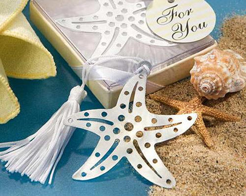 Starfish Wedding Favors Bookmark
