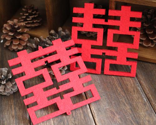 10 Pcs Chinese Traditional Wedding Favors Coasters