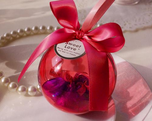 Romantic Ball Wedding Favor Boxes - Red