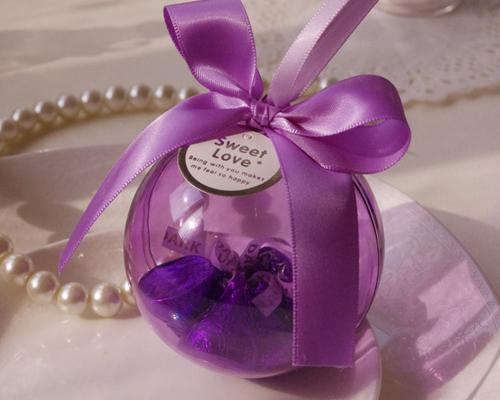 Romantic Ball Wedding Favor Boxes - Purple