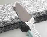 Sparkling Love Double Butterfly Wedding Cake Knife and Server Set