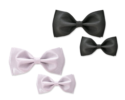 Father and Son Handcrafted Satin Bow Tie Set