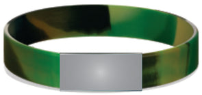 Green Black Camo Stretch Model Slim 12mm