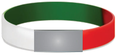 Green White Red Stretch Model Slim 12mm