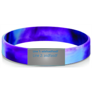 12mm Silicone Stretch ID Band