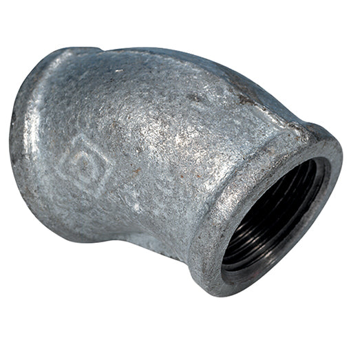 Galvanised Female Elbow 45' BSPP (155)