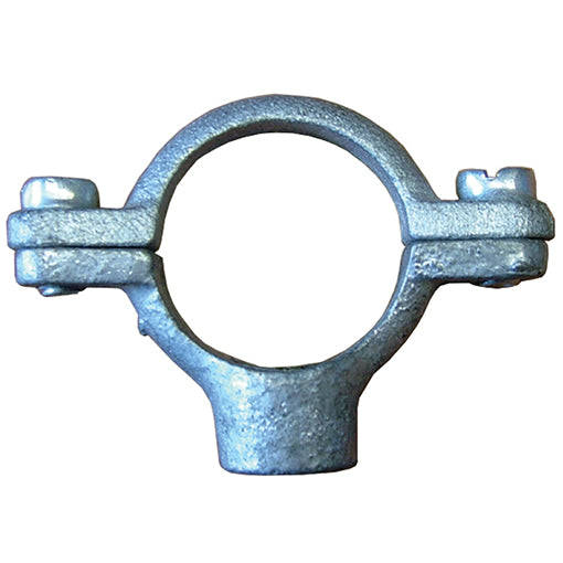 Galvanised Single Pipe Ring M10 Tapped