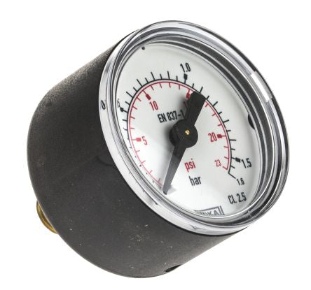 Vacuum Gauge, Back Entry, Steel Case