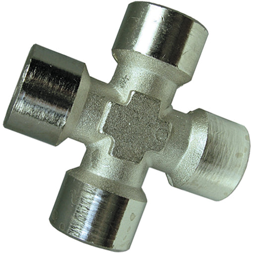 Nickel Plated Equal Female Cross Thread BSPP
