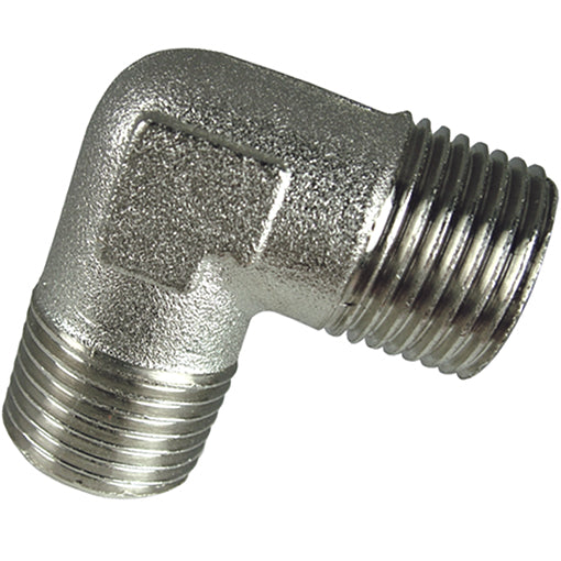 Nickel Plated Equal Elbow Male Thread BSPP