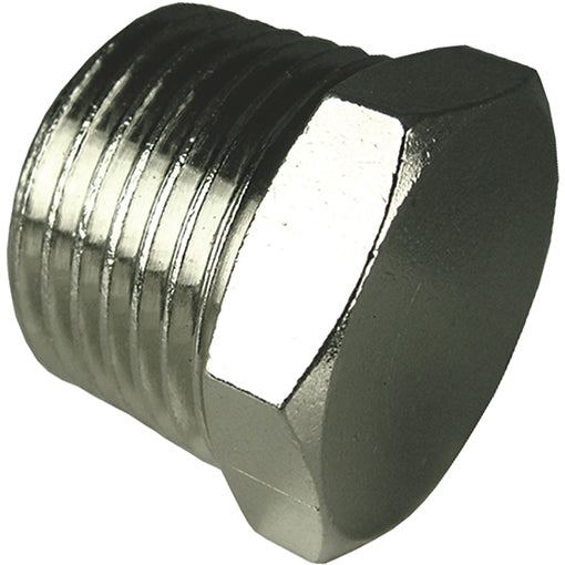 Nickel Plated Hex Tapered Plug Thread BSPT