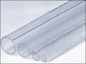 Clear Reinforced PVC Hoses, Medium Duty, 100m Coils