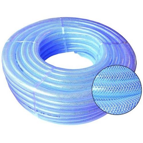 Clear Reinforced PVC Hoses, Medium Duty, 30m Coils