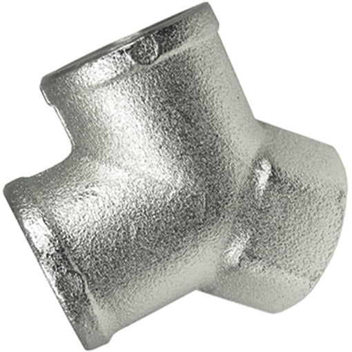 Nickel Plated 'Y' Connector Female Inlet Thread BSPP