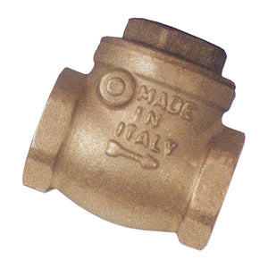 Brass Swing Check Valve with Rubber Seat / F. BSPP G1""
