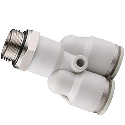 "Threaded, Parallel Y Connector BSPP G1/2"" x 6mm Tube"