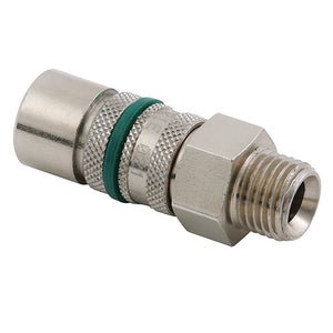 "Coupling Body Male Thread G1/8"" / GREEN / Hex 14mm, Length 47mm CODE: QRC2118MGN"