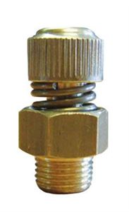 "Adjustable Exhaust Silencer, Brass, Thread BSPP 3/8"" CODE: ASR38"
