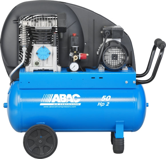 Compressor: 50L 2hp / 8.9Cfm / 10 Bar / SINGLE PHASE // ABAC: PRO A29B 50 CM2 CODE: 4116024556