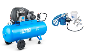Abac A39 CM3 UK 3 hp / 200 Litre Compressor + KIt