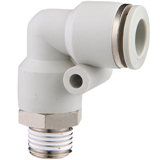 "Male Stud Swivel Elbow BSPT R1/2"" X 8mmTube"