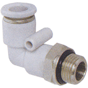 "Parallel Male Stud Swivel Elbow BSPP G1/4"" X 8mm Tube"