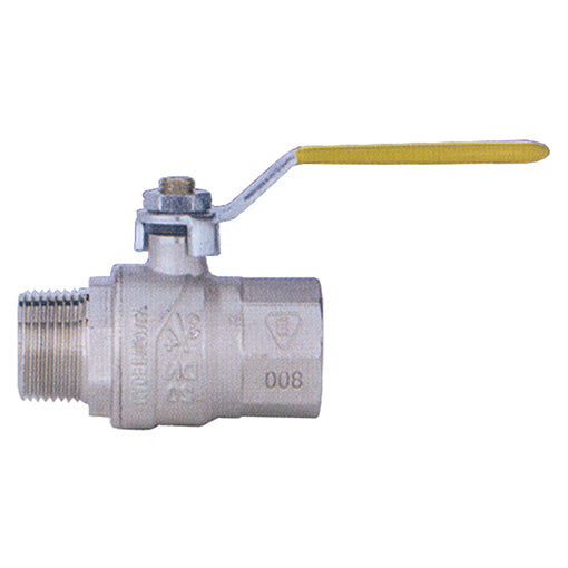 "Full Flow Ball Valve for Gas M. BSPP G3/8"" X F. 10mm"
