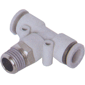 "Male Stud Swivel Tee BSPT R1/4"" X 4mm Tube"