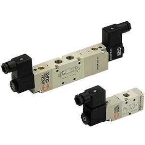 "5/3"" 3/8"" Solenoid/Spring/Solenoid Valve, Opened Centres Assisted CODE: 7040022500"
