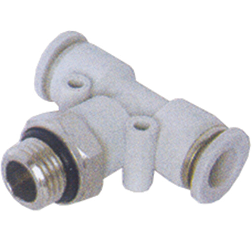 "Parallel Male Stud Swivel Branch Tee BSPP G1/8"" X 6mm Tube"