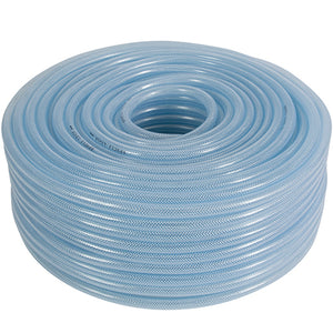 "Clear Reinforced PVC Hose 1"", Medium Duty, 100m Coils CODE: BPVC1-100M"