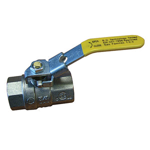 Full Flow lever Ball Valve, Lockable, F X F BSPT R3/4""