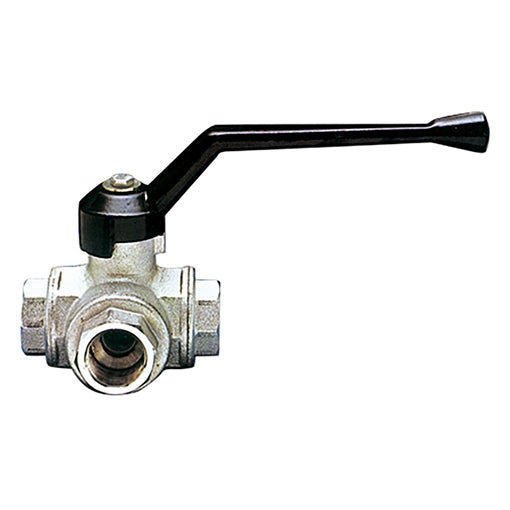 "3 Way T Port Ball Valve F. BSPP G1/2"" X 81mm"