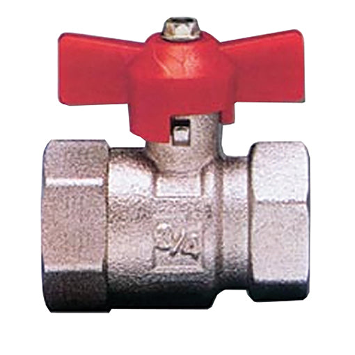 "T Handle Full Flow Ball Valve F. X F., BSPP G3/8"" / 46"