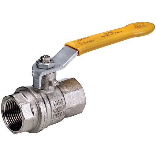 Dual Sealing WRAS / Gas Approved Ball Valve BSPP G3/4""