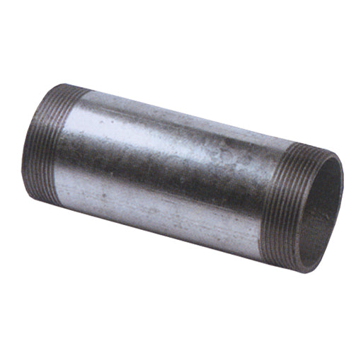 "Galvanised Barrel Nipple Extended Lengths, BSPT R1.1/4"" / 300mm"